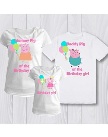 Семейни тениски с Peppa Pig