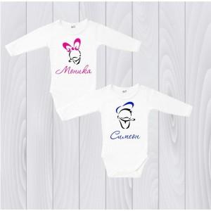 Персонализирани тениски или боди с иметото на децата