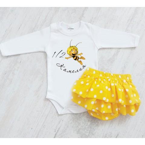 Гащички с къдрички в жълт цвят