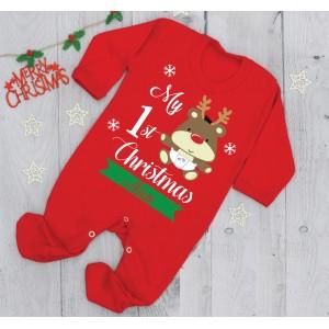 Коледен ромпър My 1st christmas