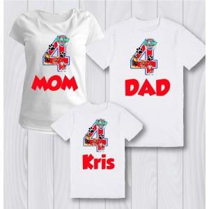 Комплект персонализирани тениски  Пес Патрул