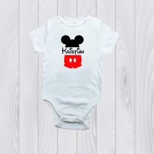 Боди Мики Маус с името на детето