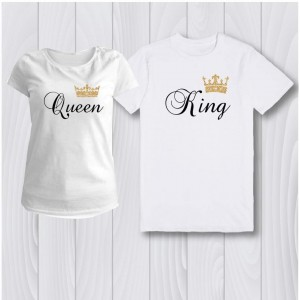 Комплект персонализирани тениски Queen, King