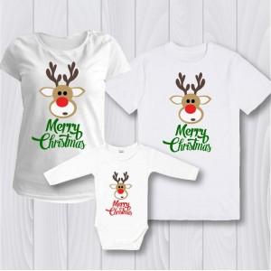 Семеен комплект Елен с надпис Merry Christmas