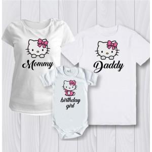 Комплект персонализирани тениски  Hello kitty