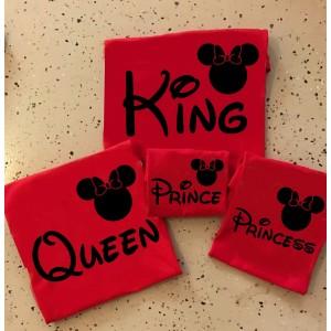 Персонализирани тениски King, Queen,Prince, Princess