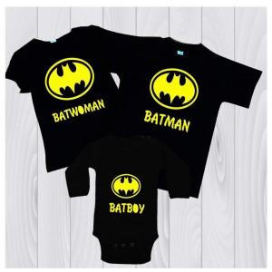 Комплект тениски за цялото семейство Батман