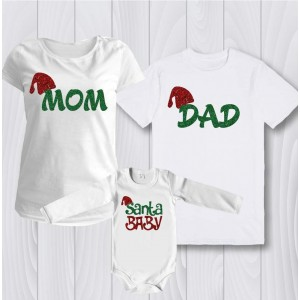 Комплект за цялото семейство Santa baby