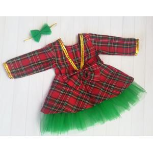 Коледна рокля каре