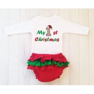 Коледни панталони с надпис My 1st Christmas