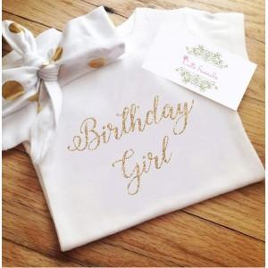 Боди или блузка с надпис  Birthday girl